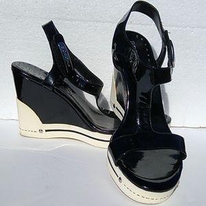 BCBGirls Sneaker Heels Platform Athletic Wedge 7.5